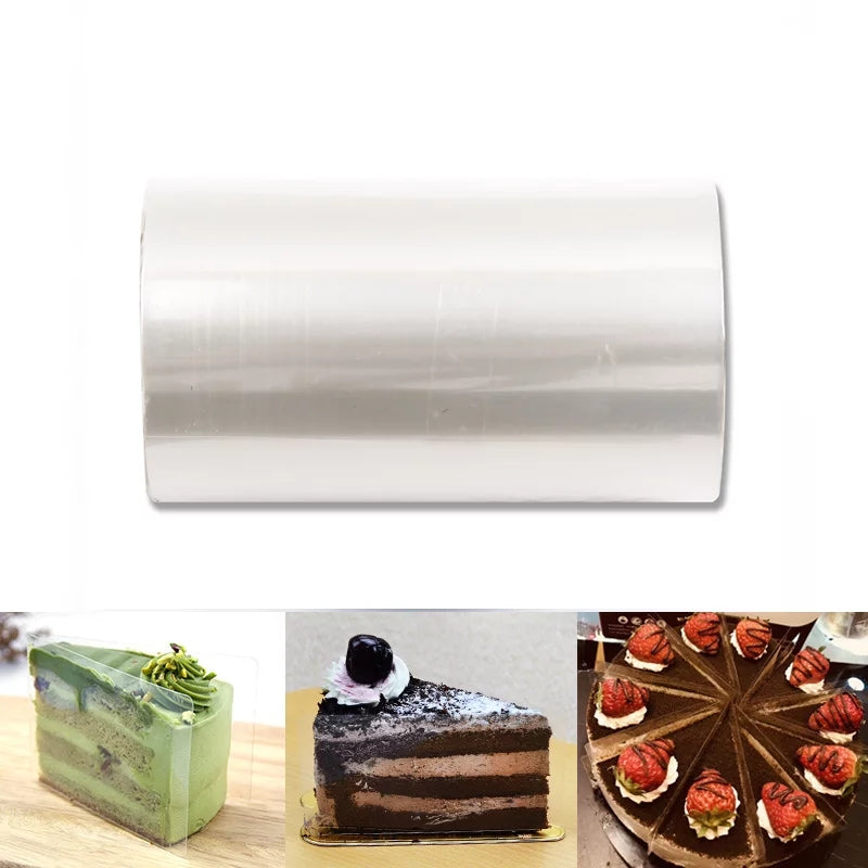 CLEAR ACETATE CAKE COLLAR ROLL 10 METERS
