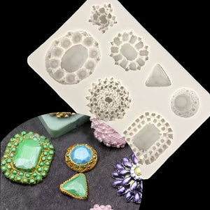 ASSORTED BROOCHES MOULD 7PCS