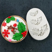 Load image into Gallery viewer, HOLY/ CHRISTMAS PLANT MOULD 3PCS