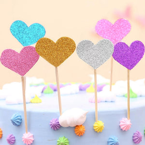 HEART TOPPERS SET 10PCS
