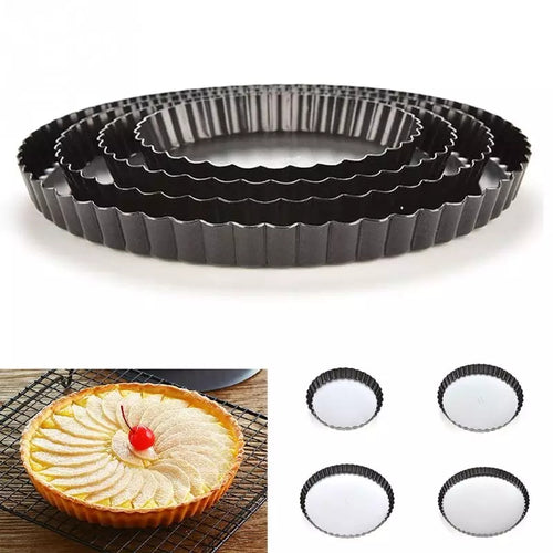 NON STICK PIE TIN 1 PCS (REMOVABLE BOTTOM)