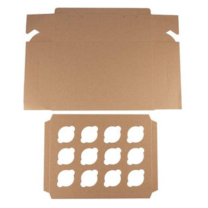 BROWN CUPCAKE BOXES/HOLDERS WITH WINDOW