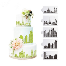 Load image into Gallery viewer, WORLD CITIES STENCIL SET 5PCS