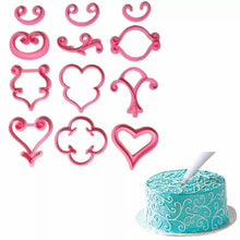 Load image into Gallery viewer, FONDANT/CREAM EMBOSSERS DOODLE FLOWER IMPRINTS SET 12 Pc {PINK}