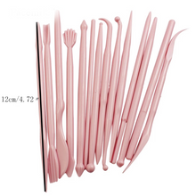 Load image into Gallery viewer, FONDANT MODELLING TOOLS MINI 14 PC PINK
