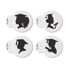 Load image into Gallery viewer, SILHOUETTE GRADUATION THEMED STENCIL SET 4PCS