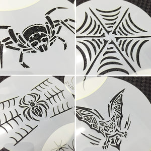 HALLOWEEN SPIDERS THEMED STENCIL SET