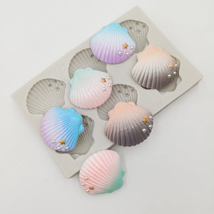 SHELL MOULD SET 6PCS (EMBELLISHED)