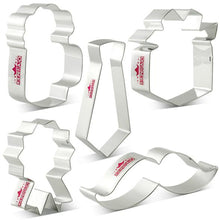 Load image into Gallery viewer, FATHER'S DAY COOKIE CUTTER SET 5 PCS (LARGE)