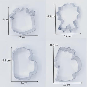 FATHER'S DAY COOKIE CUTTER SET 5 PCS (LARGE)