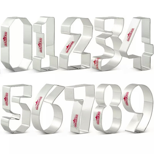 LARGE NUMBERS COOKIE CUTTERS SET 0-9