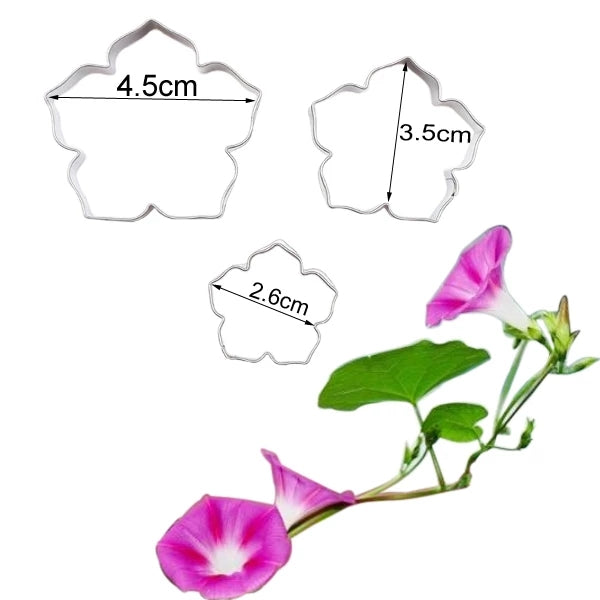 MORNING GLORY FLOWER CUTTERS SET A352