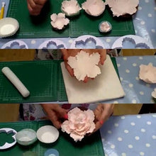 Load image into Gallery viewer, JUMBO PEONY FLOWER CUTTER PLASTIC 4 Pcs