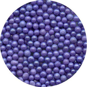 EDIBLE PURPLE SUGAR PEARLS 15 GMS
