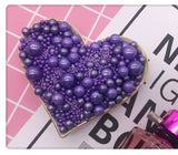 EDIBLE MIXED SIZES PURPLE SUGAR PEARLS 125 GMS