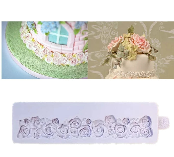 ROSE FLOWERS BORDER MOULD