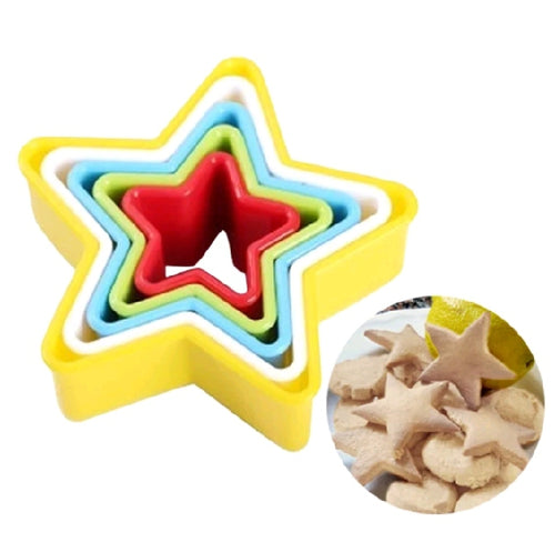 STAR COOKIE CUTTER SET 5PCS