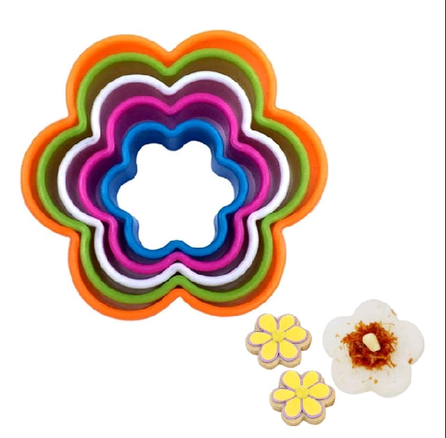 FLOWER COOKIE CUTTER SET 5PCS