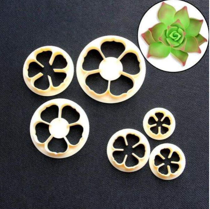 ROSE FLOWER CUTTER PLASTIC (CREAM)