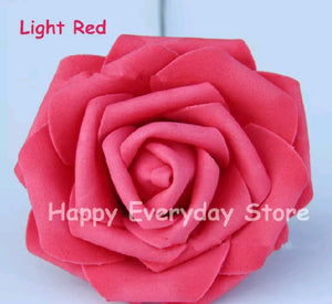 ARTIFICIAL ROSE FLOWER 8CM HEAD 10PCS SET