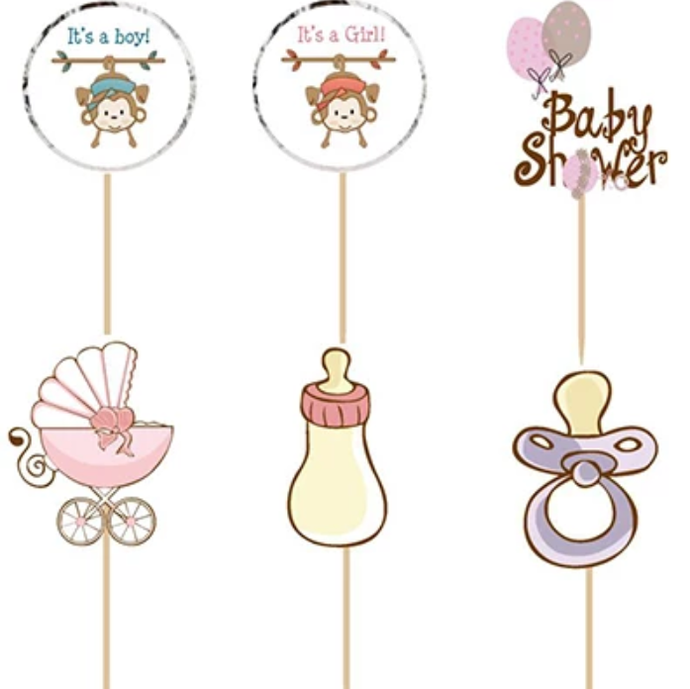 BABY SHOWER TOPPERS 24PC