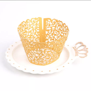 LASER CUT FILIGREE VINE CUPCAKE CAGES (12PCS)