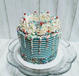 "TALL CANDY STRIPES SCRAPER/ICING COMB (10*4"")"