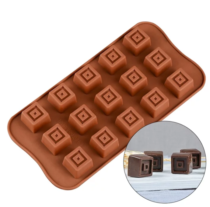 SQUARE CENTER CHOCOLATE MOULD