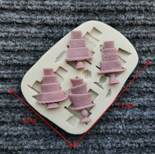 Load image into Gallery viewer, MINI TIERED CAKES MOULD 4 PCS