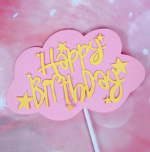Load image into Gallery viewer, CLOUD HAPPY BIRTHDAY TOPPERS (PAPER)