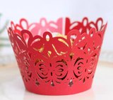 LASER CUT SCROLL CUPCAKE CAGES  - {12 Pcs}