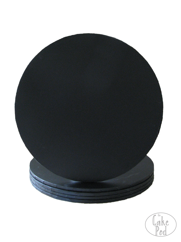 BLACK ROUND CAKE BOARDS (NORMAL)