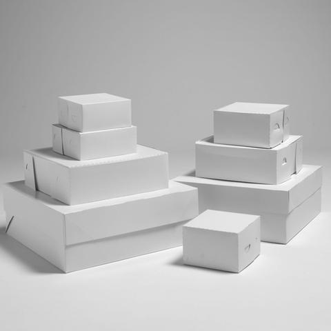 WHITE CAKE BOXES (4 INCHES)
