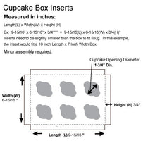 Load image into Gallery viewer, BROWN CUPCAKE BOXES/HOLDERS WITH WINDOW