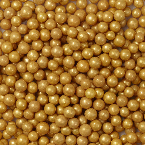 EDIBLE GOLD SUGAR PEARLS 15 GMS