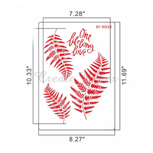 FERN LEAVES STENCIL
