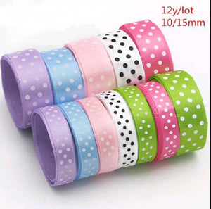 POLKA DOT SATIN RIBBONS (LIGHT SHADE)