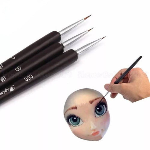 FINE LINES CAKE BRUSH SET 3PCS (SMALL TIPS)