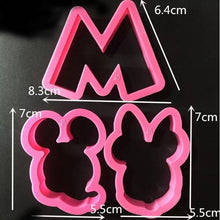 Load image into Gallery viewer, MICKEY & MINNIE MOUSE CUTTERS SET 5 PCS