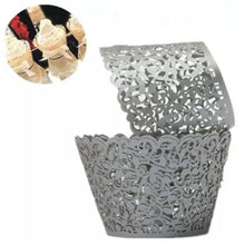 Load image into Gallery viewer, LASER CUT FILIGREE VINE CUPCAKE CAGES (12PCS)