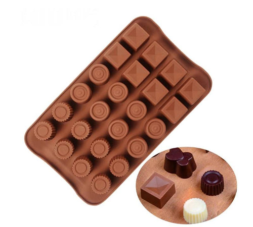 SQUARES & CIRCLES CHOCOLATE MOULD
