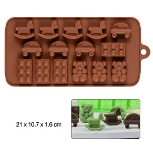 LEGOS, CARS & HORSES CHOCOLATE MOULD
