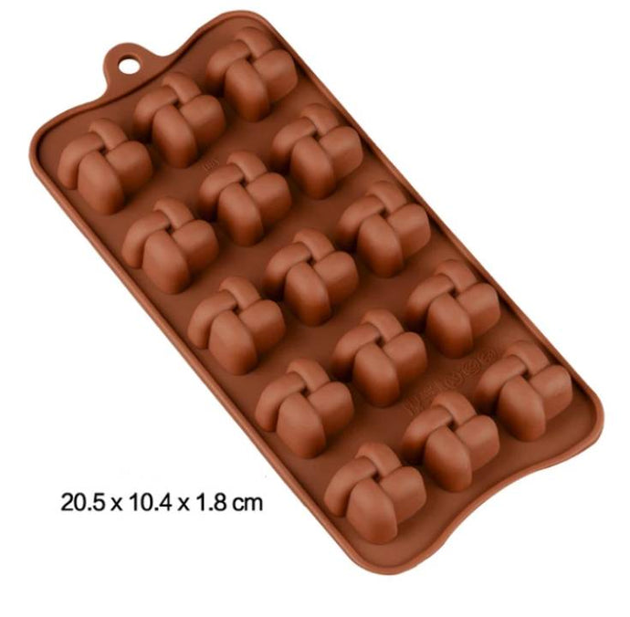 SQUARE LOOP CHOCOLATE MOULD
