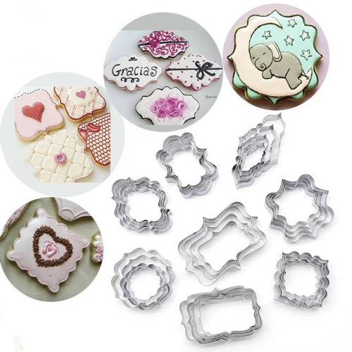 PLAQUE COOKIE CUTTERS SET 4PCS