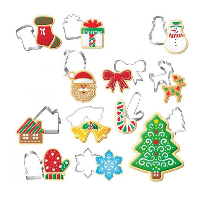CHRISTMAS THEME COOKIE CUTTER SET 12PCS