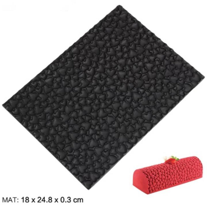 LOVE HEARTS CHOCOLATE MOUSSE TEXTURE MAT