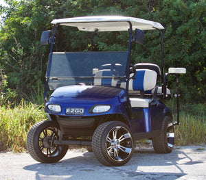 EZGO TXT Electric Blue w/ Two Tone Seats - $6,200