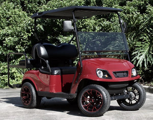 "EZGO TXT ""Titan"" Ruby Red w/ Black Seats - $5,900"