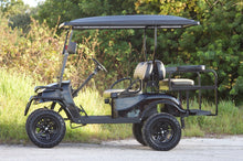 "Load image into Gallery viewer, EZGO TXT ""Titan"" Black with Two Tone Seats - Lifted - $7,300"