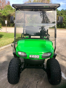 EZGO TXT Lime Green with Black Seats - Lifted - $6,600